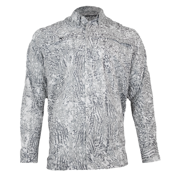 Arctic Button Down Fishing Shirt-Long Sleeve Woven Shirt-Xotic Camo & Fishing Gear