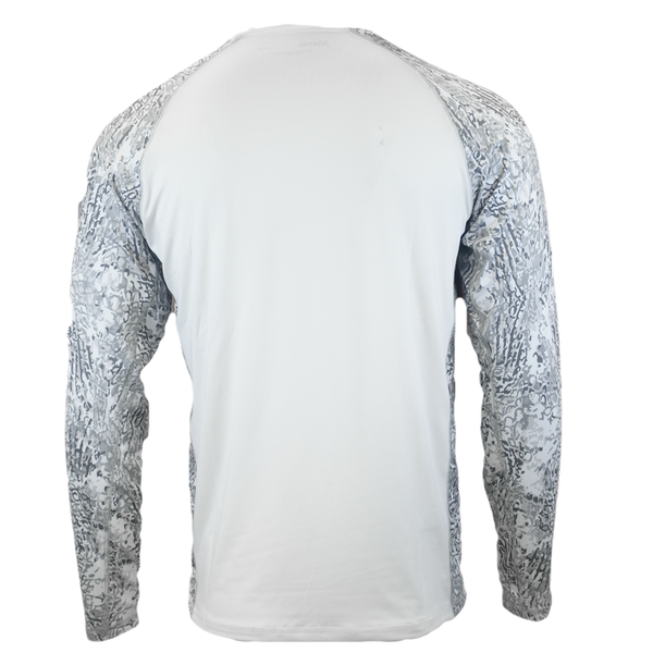 Arctic White Body Performance Fishing Shirt-Long Sleeve Performance Shirt-Xotic Camo & Fishing Gear