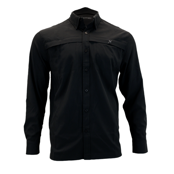 Black Button Down Fishing Shirt-Button Down Fishing shirt-Xotic Camo & Fishing Gear