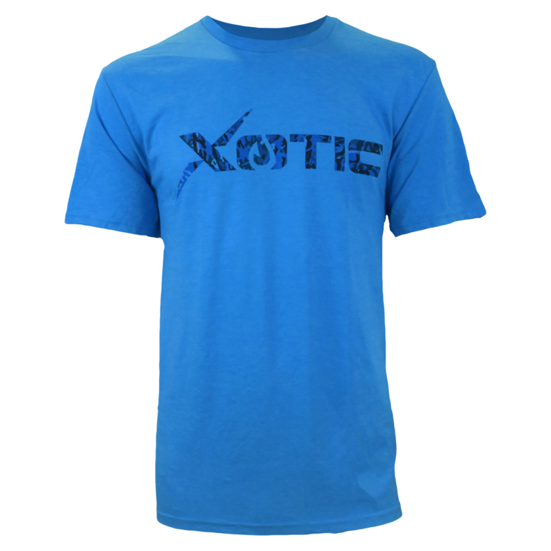Blue T-Shirt with Blue Water logo-Lifestyle Shirts-Xotic Camo & Fishing Gear