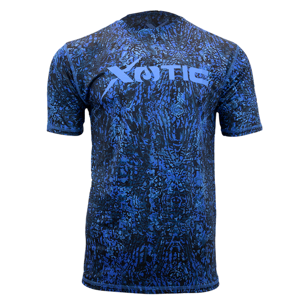 Blue Water Short Sleeve Performance Fishing Shirt-Short Sleeve Performance Shirt-Xotic Camo & Fishing Gear