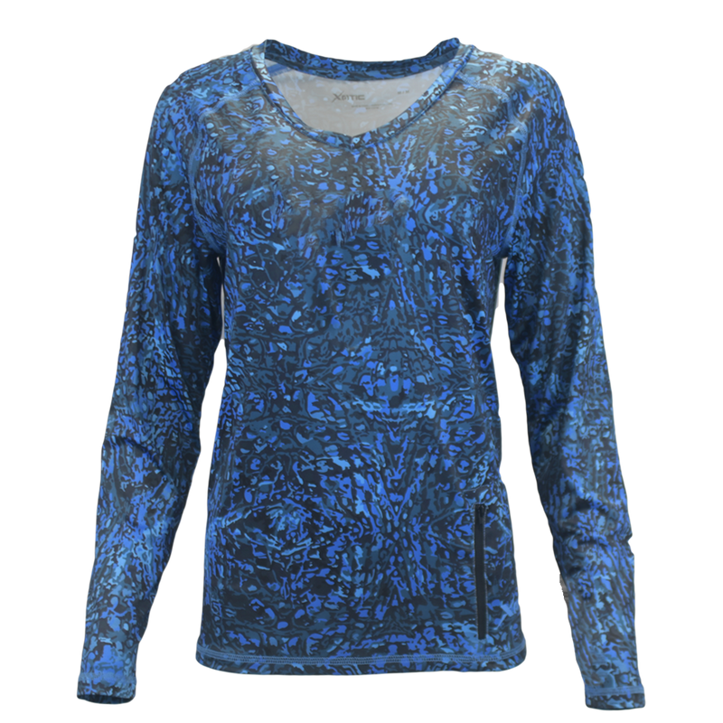 Blue Water Women's Performance Fishing Shirt-Womens Performance Shirt-Xotic Camo & Fishing Gear
