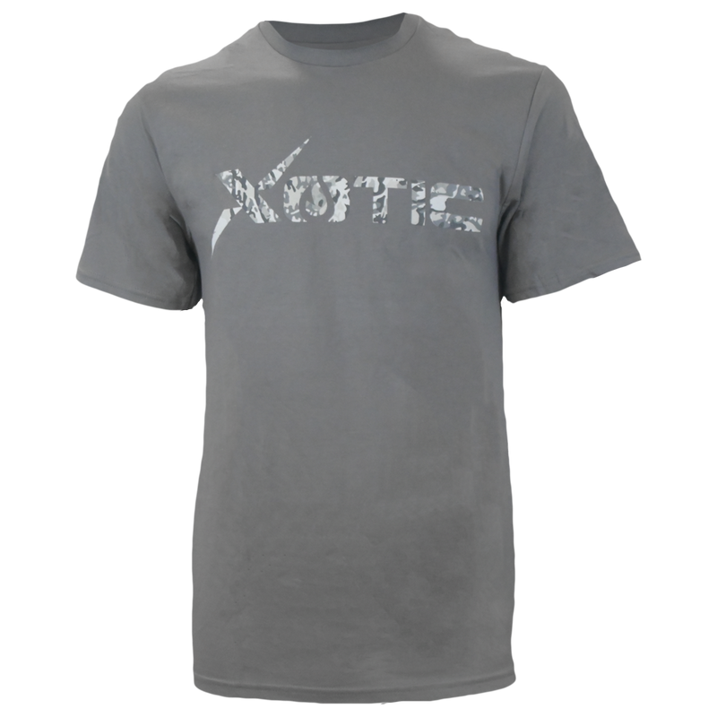 Grey T-Shirt with Arctic logo-Lifestyle Shirts-Xotic Camo & Fishing Gear