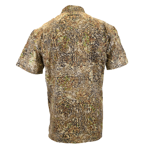 HD Camo Button Down Hunting shirt-Short Sleeve Woven Shirt-Xotic Camo & Fishing Gear