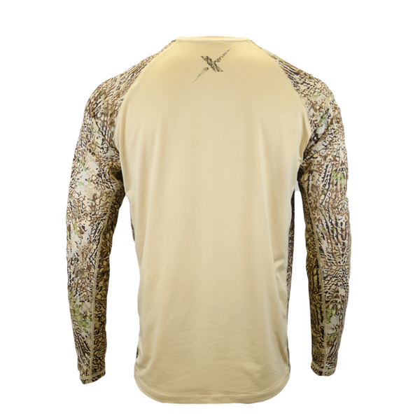 HD Camo Tan Body Performance Hunting Shirt-Long Sleeve Performance Shirt-Xotic Camo & Fishing Gear