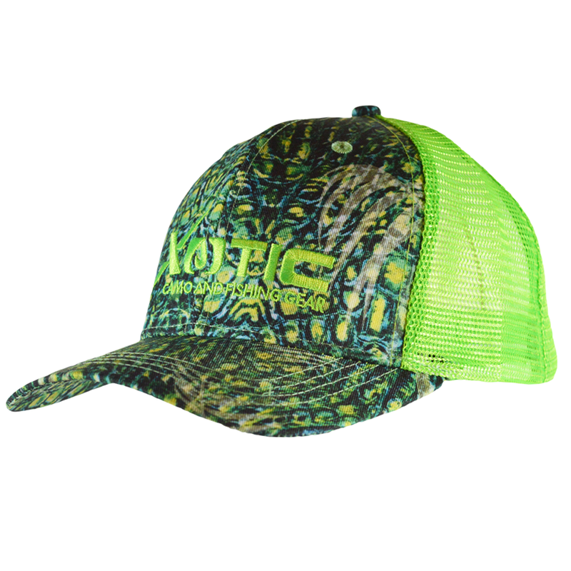 HF Combo Front/Green Mesh-Hat-Xotic Camo & Fishing Gear