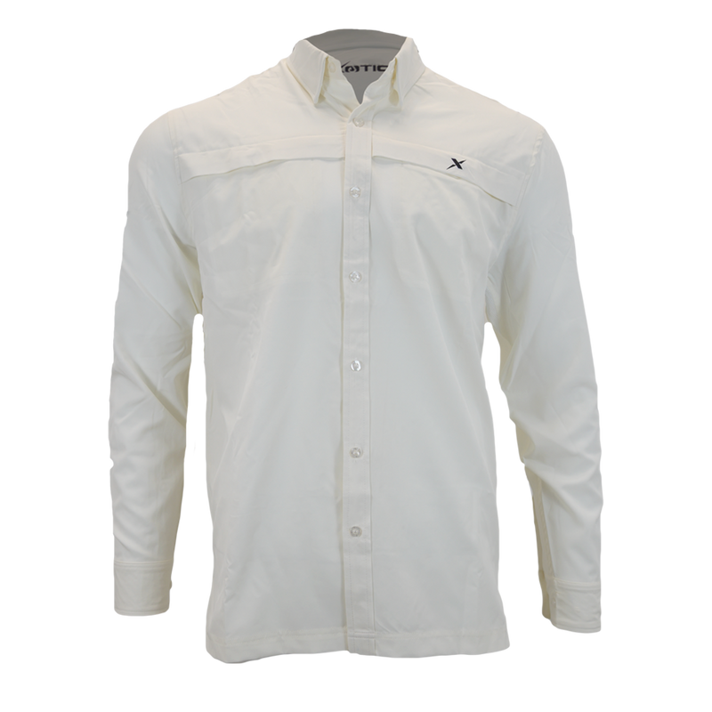 Ivory Button Down Fishing Shirt-Xotic Camo & Fishing Gear