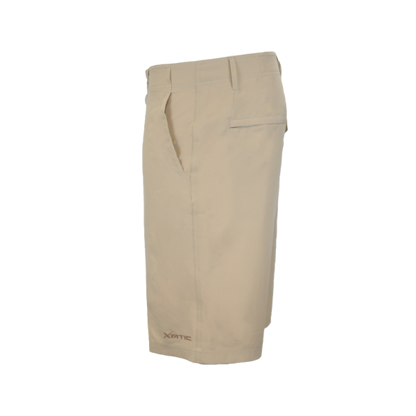 Khaki Hybrid Performance Shorts-Hybrid Shorts-Xotic Camo & Fishing Gear