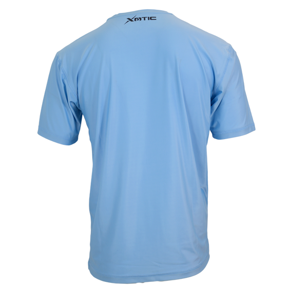 Light Blue Performance Fishing Shirt-Long Sleeve Performance Shirt-Xotic Camo & Fishing Gear