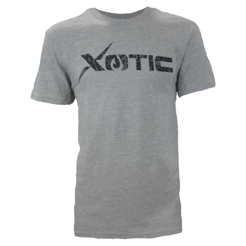 Light Heather Grey T-Shirt with Recon logo-Lifestyle Shirts-Xotic Camo & Fishing Gear