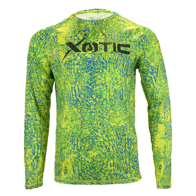 Mahi Performance Fishing Shirt-Long Sleeve Performance Shirt-Xotic Camo & Fishing Gear