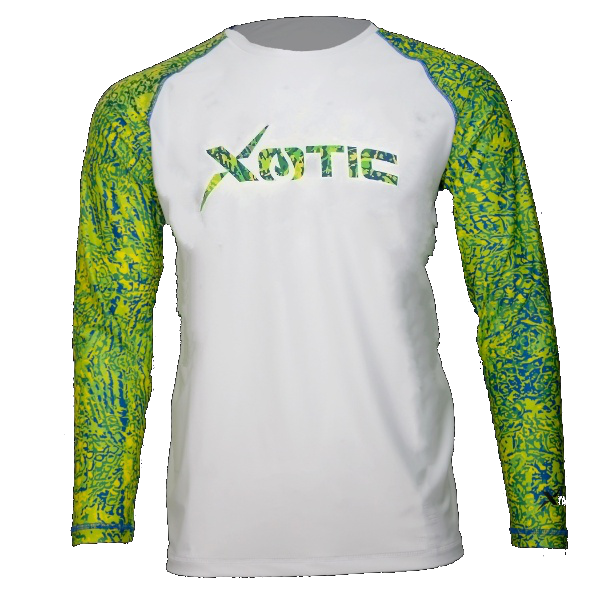 Mahi White Body Performance Fishing Shirt-Long Sleeve Performance Shirt-Xotic Camo & Fishing Gear
