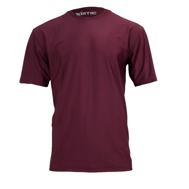 Maroon Performance Fishing Shirt-Long Sleeve Performance Shirt-Xotic Camo & Fishing Gear
