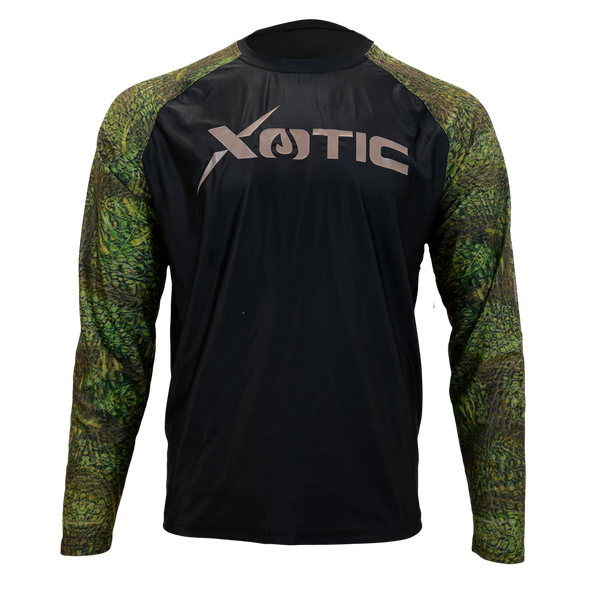 OG Camo Black Body Performance Hunting Shirt-Long Sleeve Performance Shirt-Xotic Camo & Fishing Gear
