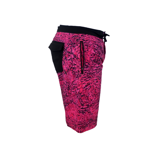 Pink Snapper Performance Fishing Board Shorts-Board Shorts-Xotic Camo & Fishing Gear