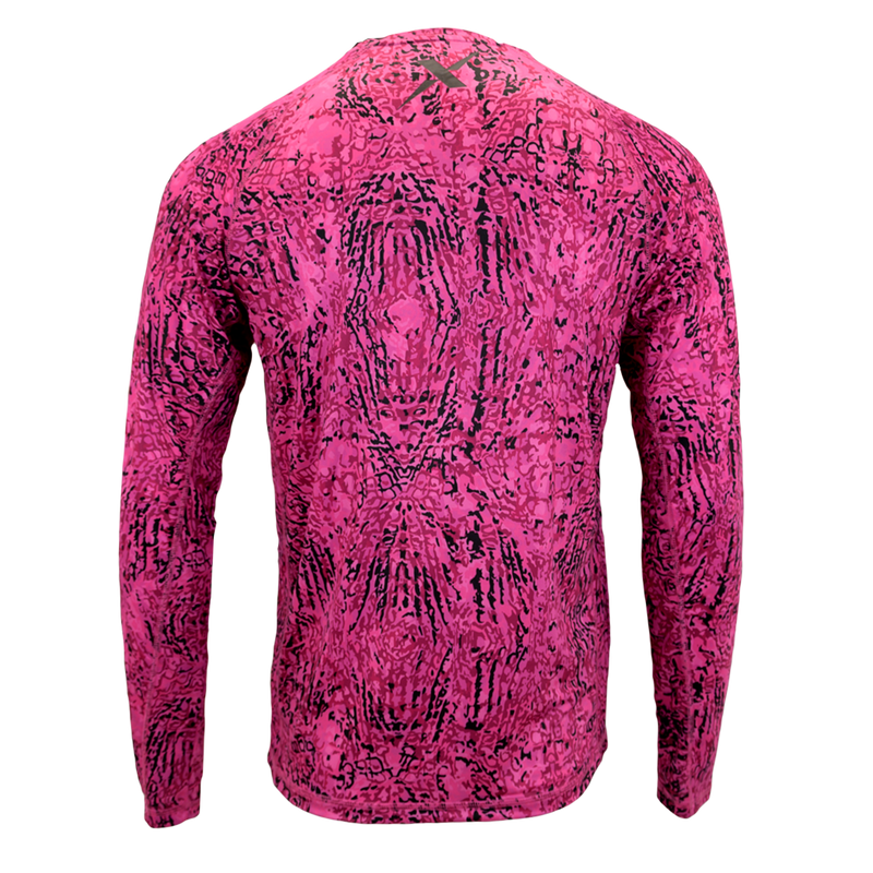 Pink Snapper Performance Fishing Shirt-Long Sleeve Performance Shirt-Xotic Camo & Fishing Gear
