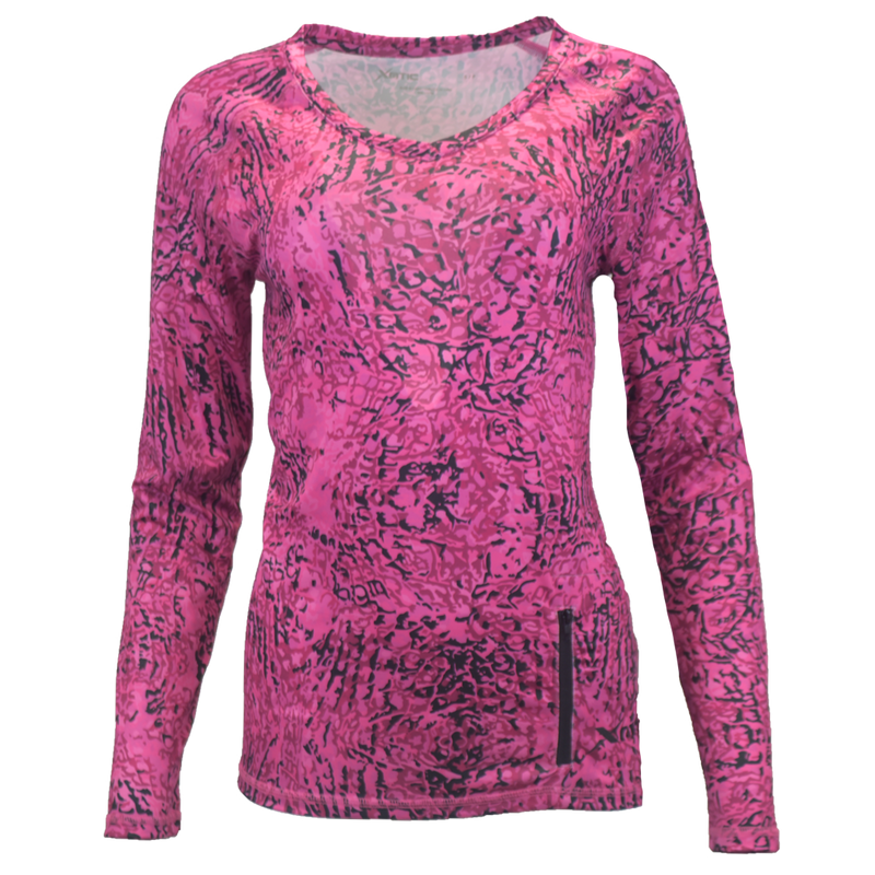 Pink Snapper Women's Performance Fishing Shirt-Womens Performance Shirt-Xotic Camo & Fishing Gear