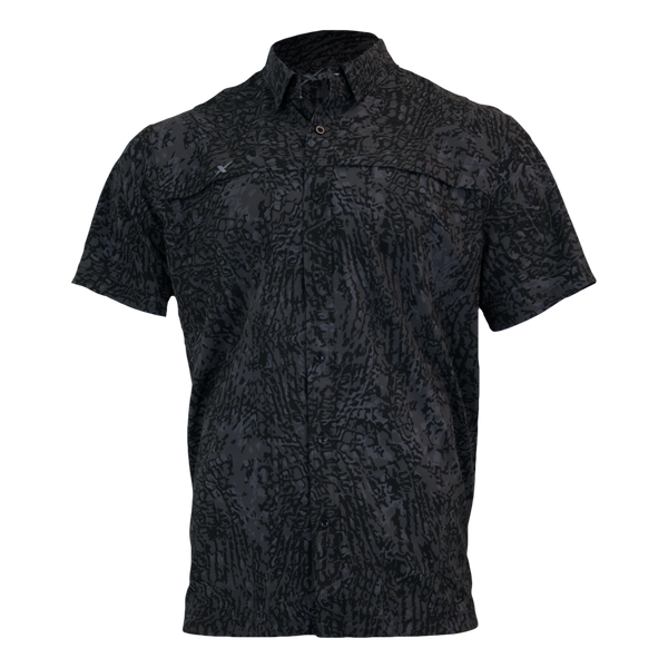 Recon Button Down Fishing Shirt-Short Sleeve Woven Shirt-Xotic Camo & Fishing Gear
