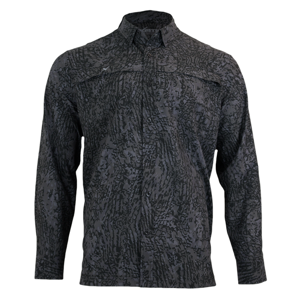 Recon Button Down Fishing Shirt-Long Sleeve Woven Shirt-Xotic Camo & Fishing Gear