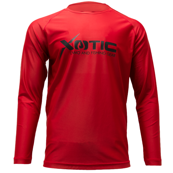Red Long Sleeve Performance Shirt with Repel X