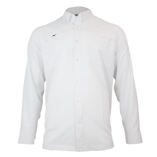 White Button Down Fishing Shirt-Button Down Fishing shirt-Xotic Camo & Fishing Gear