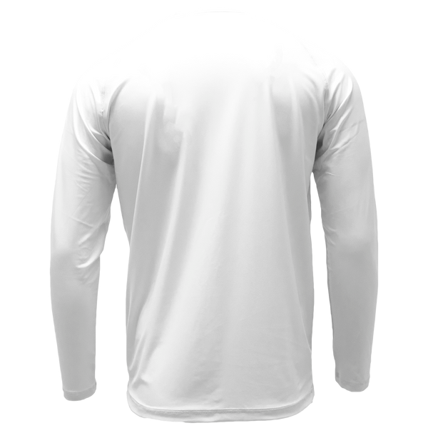 White Long Sleeve Performance Shirt with Repel X
