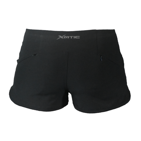 Womens Black Hybrid Performance Shorts-Womens Shorts-Xotic Camo & Fishing Gear