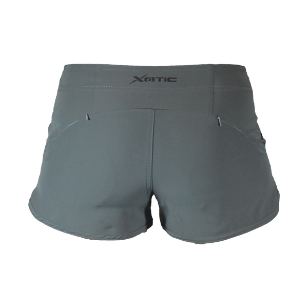 Womens Grey Hybrid Performance Shorts-Womens Shorts-Xotic Camo & Fishing Gear