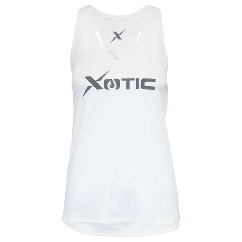 Women's White Performance Fishing Tank Top-Tank Top-Xotic Camo & Fishing Gear