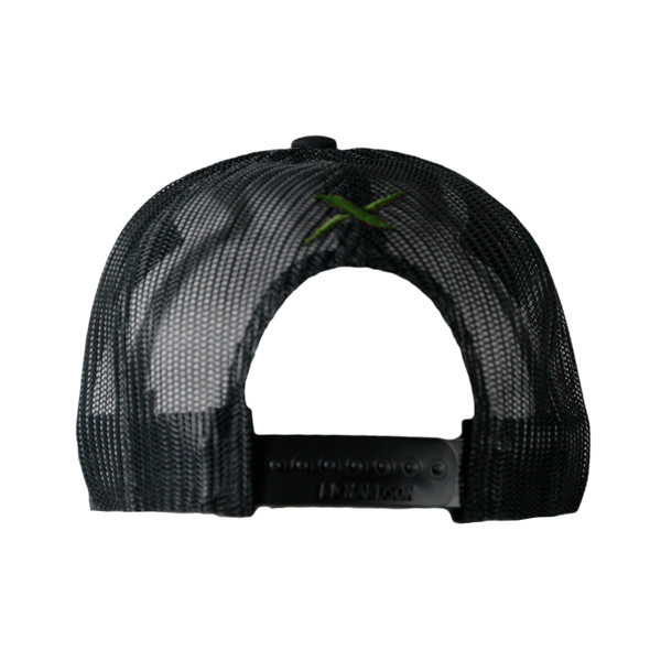 Xotic Black/Black Green Logo Hat-Hat-Xotic Camo & Fishing Gear