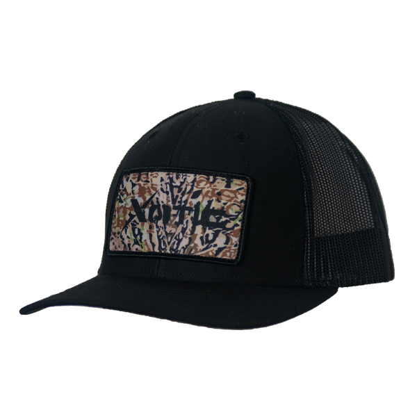 Xotic Black/Black HD Patch-Hat-Xotic Camo & Fishing Gear