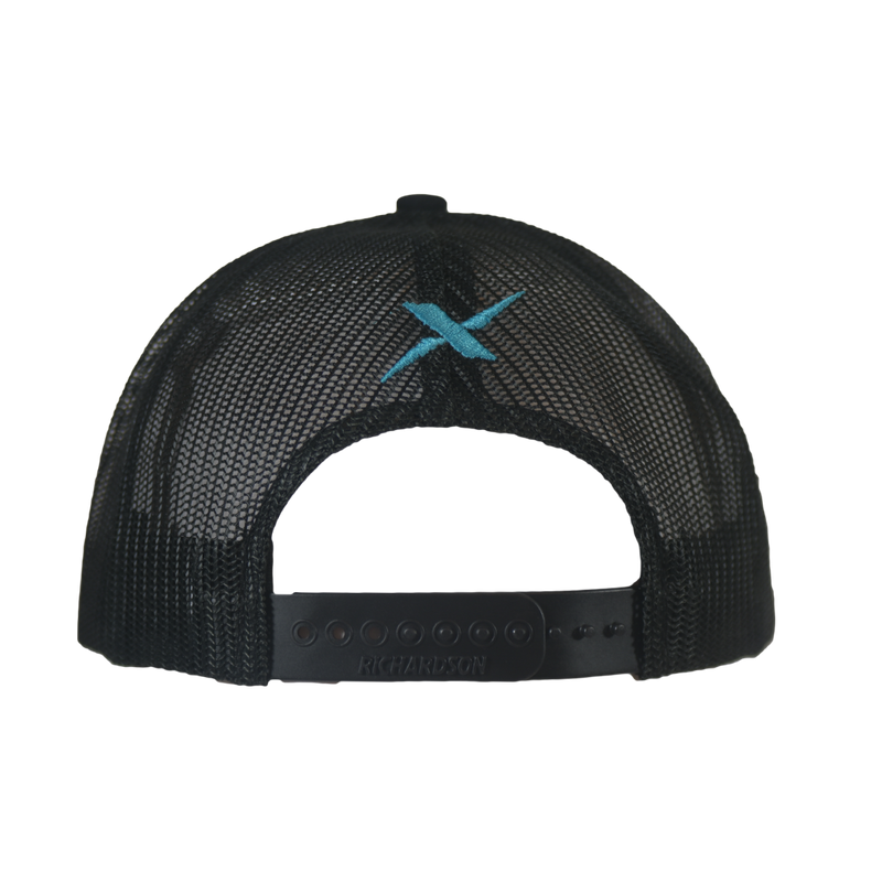 Xotic Black/Black Malibu Blue Logo Hat-Hat-Xotic Camo & Fishing Gear