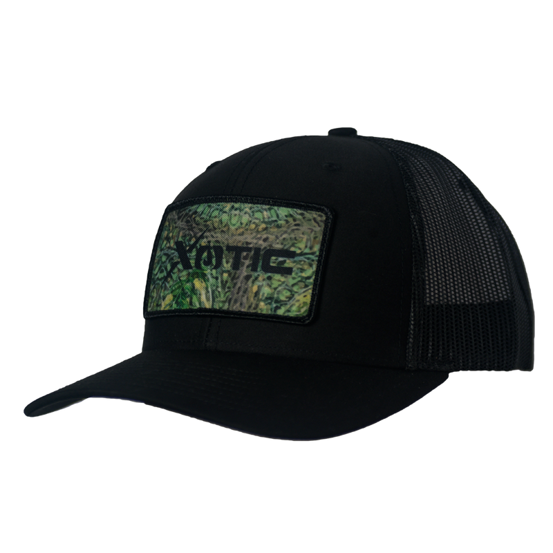 Xotic Black/Black OG Camo Patch Hat-Hat-Xotic Camo & Fishing Gear