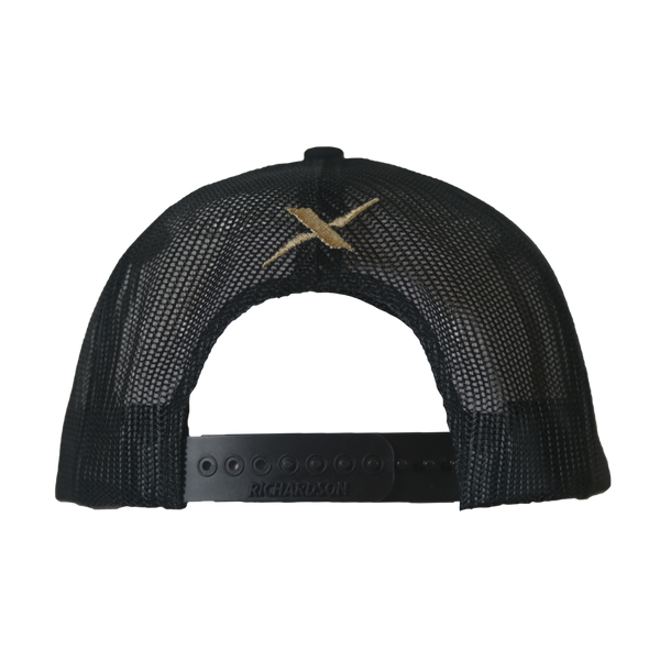 Xotic Black/Black Sand Logo Hat-Hat-Xotic Camo & Fishing Gear