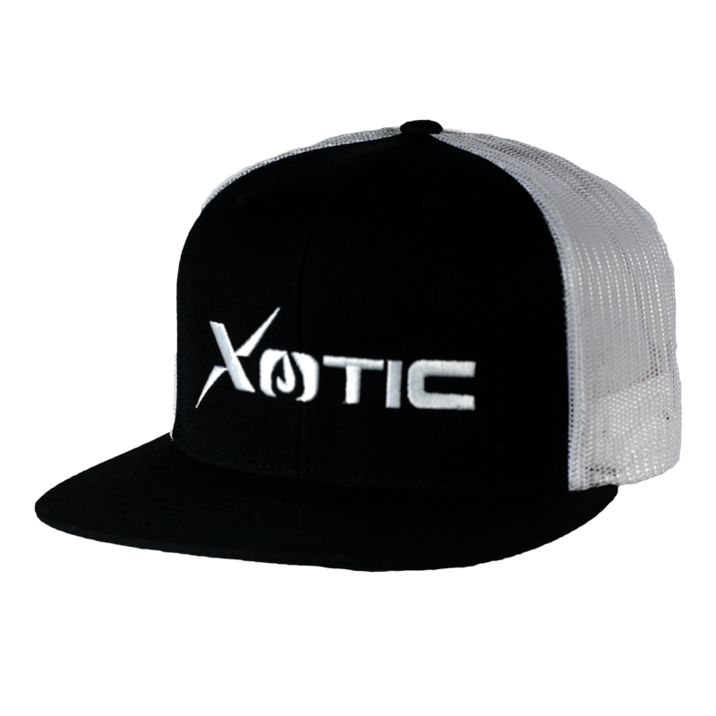 Xotic Black/White Hat-Hat-Xotic Camo & Fishing Gear