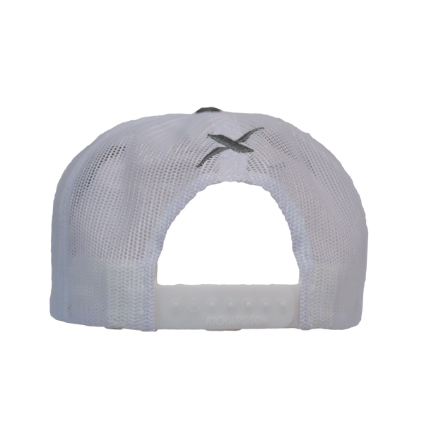 Xotic Charcoal/White Hat-Hat-Xotic Camo & Fishing Gear