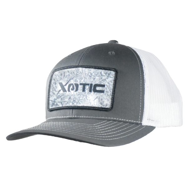 Xotic Charcoal/White with Arctic Patch Hat-Hat-Xotic Camo & Fishing Gear