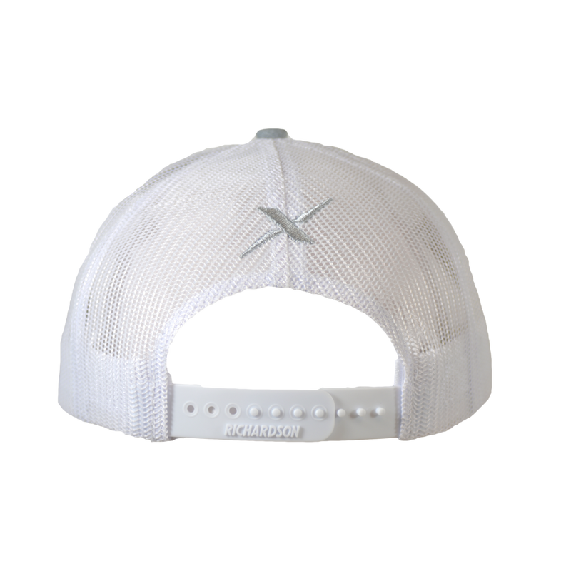 Xotic Heather Grey/ White White Logo Hat-Hat-Xotic Camo & Fishing Gear
