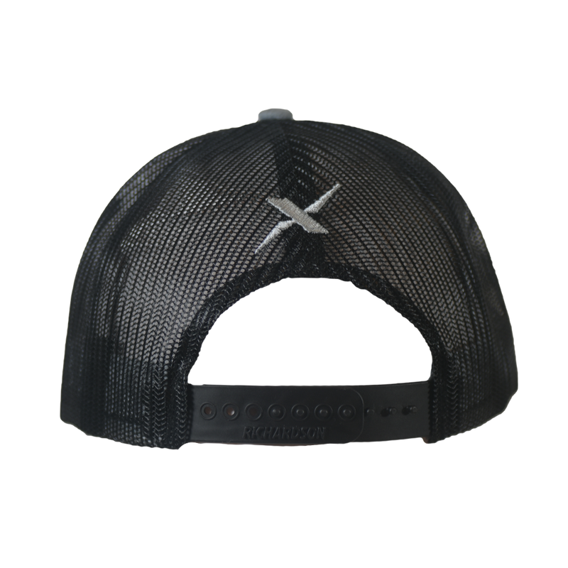 Xotic Heather Grey/Black Black Logo Hat-Hat-Xotic Camo & Fishing Gear
