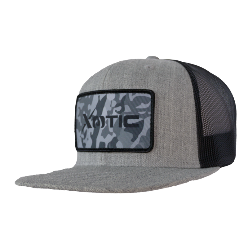 Xotic Heather Grey/Black with Recon Patch Hat-Hat-Xotic Camo & Fishing Gear
