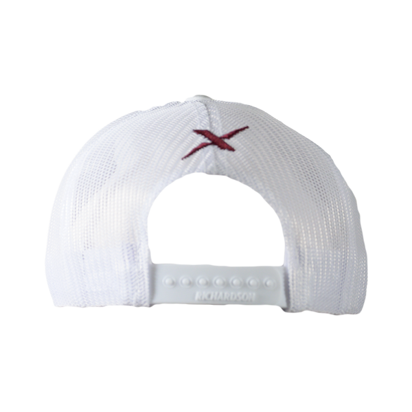 Xotic Heather Grey/White Maroon Logo Hat-Hat-Xotic Camo & Fishing Gear