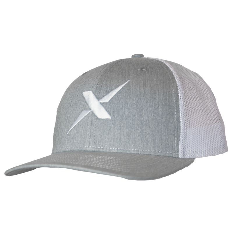 Xotic Heather Grey/White White X Hat-Hat-Xotic Camo & Fishing Gear