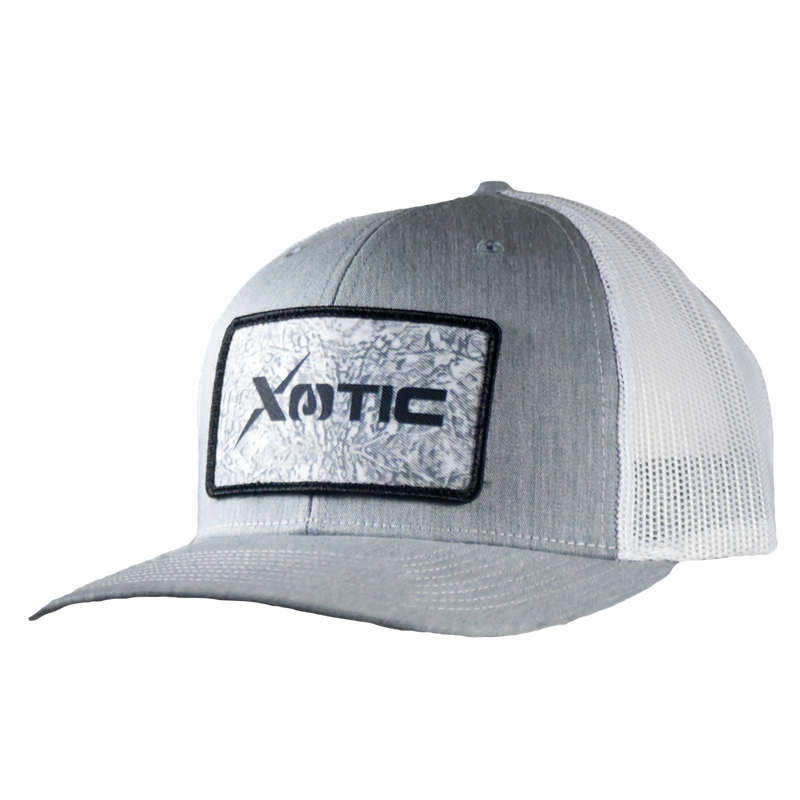 Xotic Heather Grey/White with Arctic Patch Hat-Hat-Xotic Camo & Fishing Gear