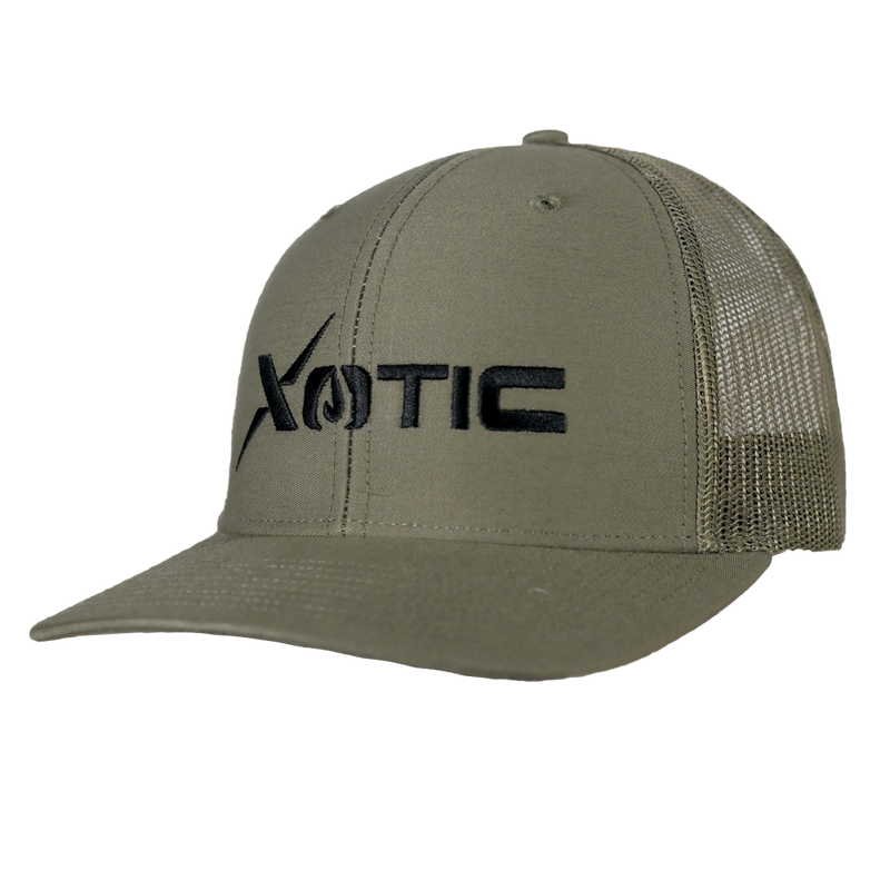 Xotic Loden/Loden Black Logo Hat-Hat-Xotic Camo & Fishing Gear