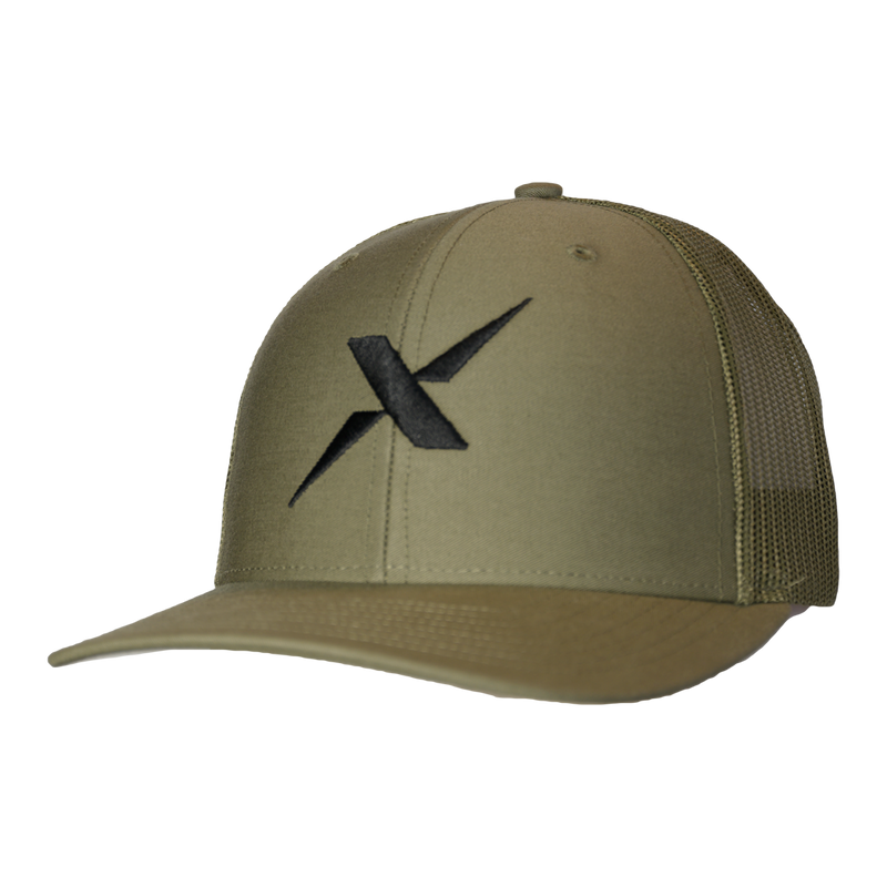 Xotic Loden/Loden Black X Hat-Hat-Xotic Camo & Fishing Gear