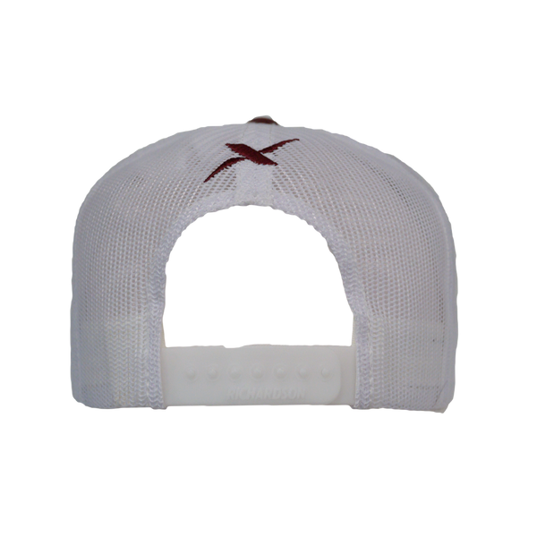 Xotic Maroon/White Hat-Hat-Xotic Camo & Fishing Gear