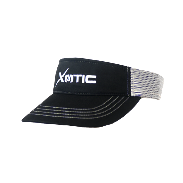Xotic Visor Black/White White Logo-Hat-Xotic Camo & Fishing Gear
