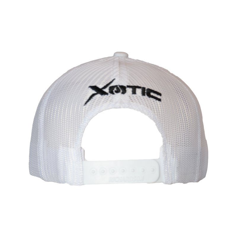 Xotic White/White Black X Hat-Hat-Xotic Camo & Fishing Gear