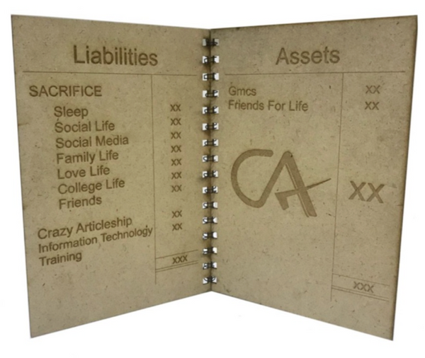 CA Journey Balance Sheet Card - GiftingWardrobe