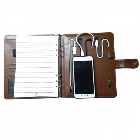 Diary with 5000 Mah Powerbank